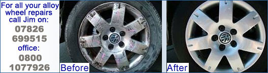 Alloy wheels Jaguar BMW Mercedes VW Golf Alfa Romeo Mini Audi rim dent repspray, corroded buckled dented cracked leaks kerbed alloys